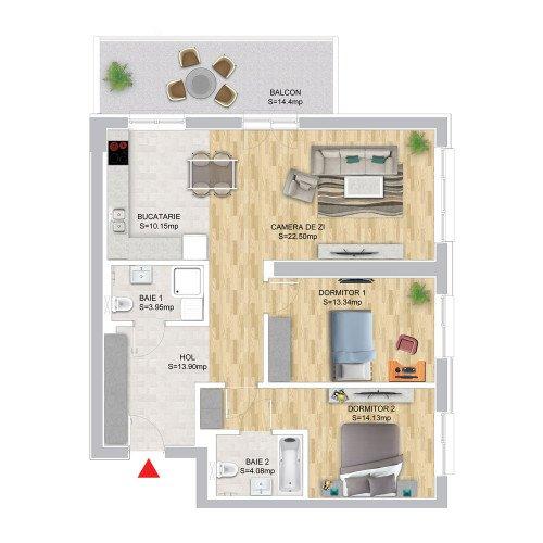 3 Camere Premium